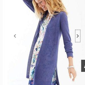 J..Jill long & light cardigan in majestic blue